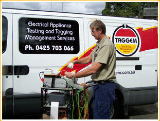 mobile electrical testing and tagging